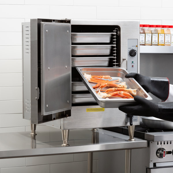 Cleveland 22CET6.1 SteamChef 6 Pan Electric Countertop Steamer - 208V, 1 Phase, 12 kW Main Image 6