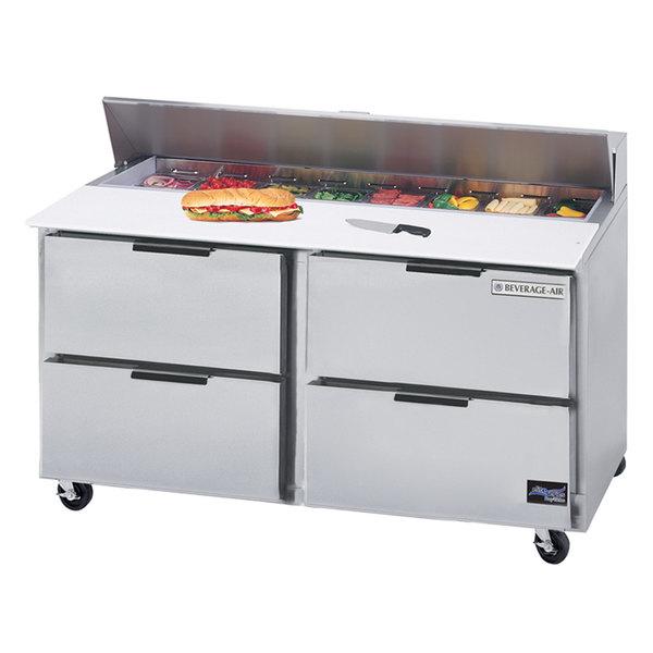 "Beverage-Air SPED60HC-16-4 Elite Series 60"" 4 Drawer Refrigerated Sandwich Prep Table Main Image 1"