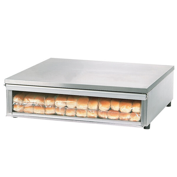 Star SS30BBC Stainless Steel Bun Box with Clear Door Holds 48 Hot Dog Buns Main Image 1