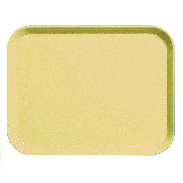 """Cambro 3253CL145 Camlite 13"""" x 21"""" Yellow Tray - 12/Case"""