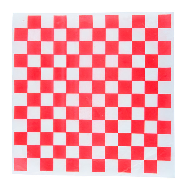 """Choice 15"""" x 15"""" Red Check Deli Sandwich Wrap Paper - 1000/Pack"""