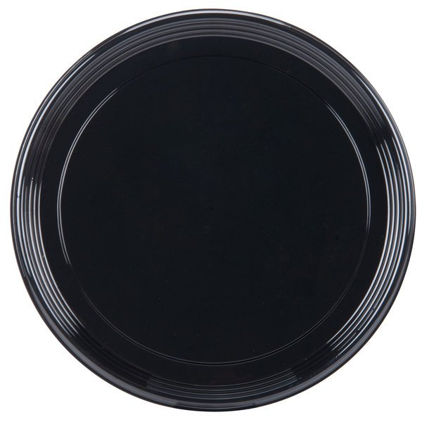 Sabert 9916 Onyx 16 inch Black Round Catering Tray  - 36/Case
