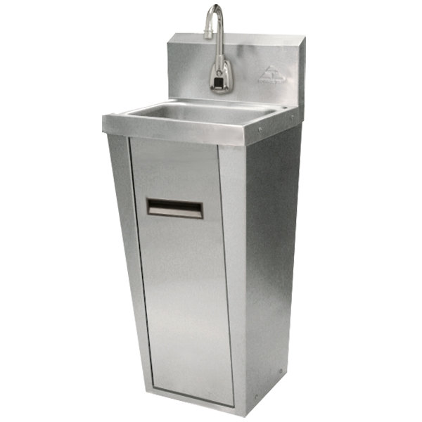 Advance Tabco 7-PS-91 Hands Free Hand Sink with Electric Faucet and Pedestal Base