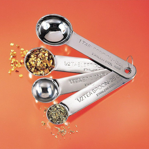 57ce28efb2d American Metalcraft MSSF75 4-Piece Stainless Steel Measuring Spoon Set.  Image Preview ...