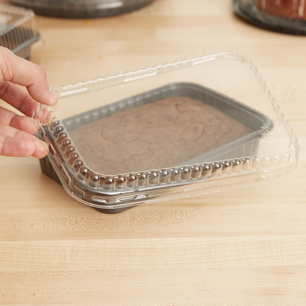 Genpak 95026 Clear OPS Dome Lid for 55027 Dual Ovenable Food Pans - 250/Case Main Image 7