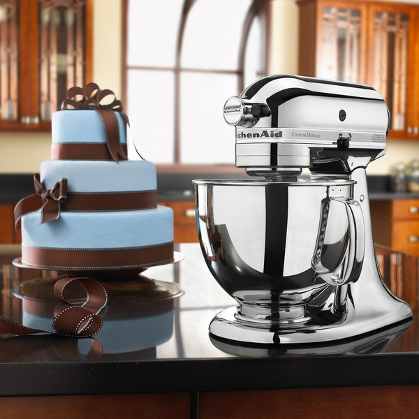 Exceptionnel KitchenAid KSM152PSCR Chrome Custom Metallic Series 5 Qt. Countertop Mixer