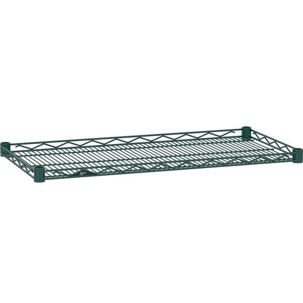 "Metro HDM1436-DHG Super Erecta Hunter Green Drop Mat Wire Shelf - 14"" x 36"""