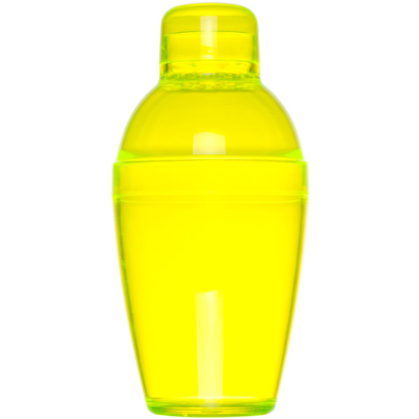 Fineline Quenchers 4101-Y 7 oz. Yellow Plastic Shaker - 24/Case
