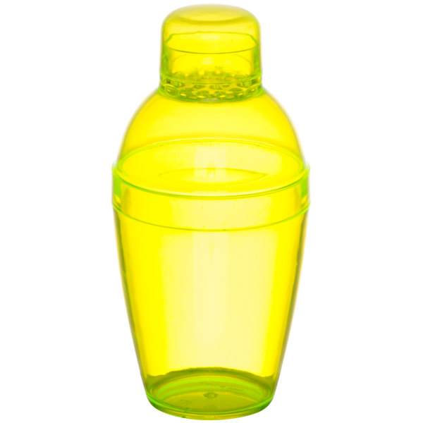 Fineline Quenchers 4101-Y 7 oz. Yellow Plastic Shaker - 24/Case Main Image 1