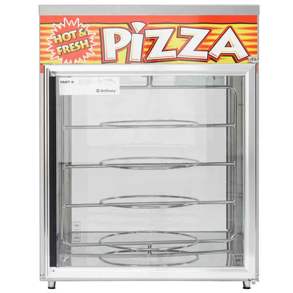 """APW Wyott HDC-4P Pass-Through Heated Display Case with Four 18"""" Pizza Racks - 120V Main Image 1"""