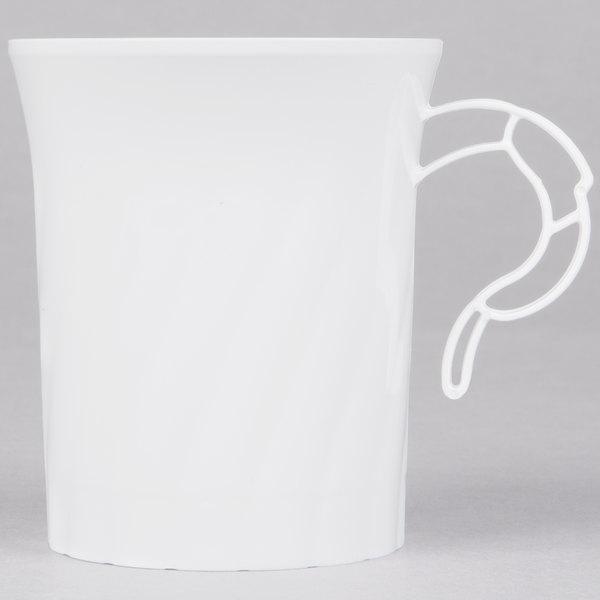 WNA Comet CWM8192W Classicware 8 oz. White Plastic Coffee Cup - 8/Pack