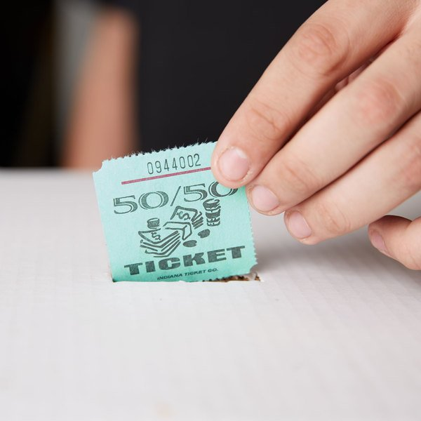 Green 50/50 Marquee Raffle Tickets - 1000/Roll Main Image 5