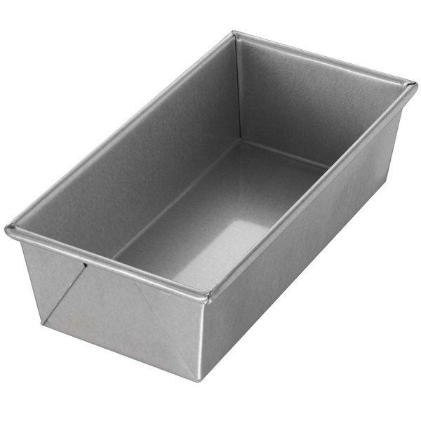 "Chicago Metallic 49115 1 1/2 lb. Customizable Single Open Top Glazed Bread Pan - 10"" x 5"" x 3"""