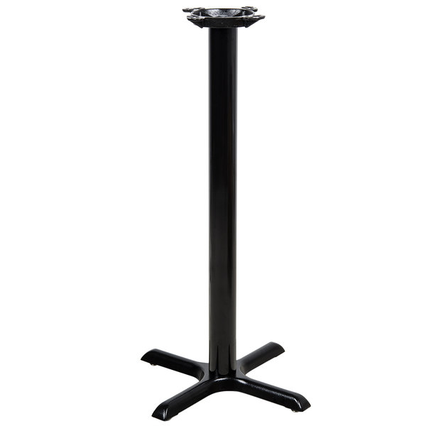 "Lancaster Table & Seating 22"" x 22"" x 41"" Black Metal Table Base - Bar Height"