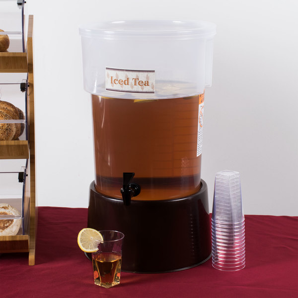 Carlisle 222901 5 Gallon See-Thru Round Beverage Dispenser with Base