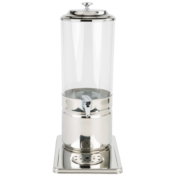 Choice 1.8 Gallon Stainless Steel and Polycarbonate Single Beverage Dispenser