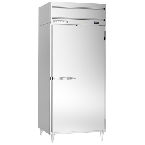 "Beverage-Air HFPS1W-1S Horizon Series 35"" Solid Door All Stainless Steel Wide Reach-In Freezer Main Image 1"