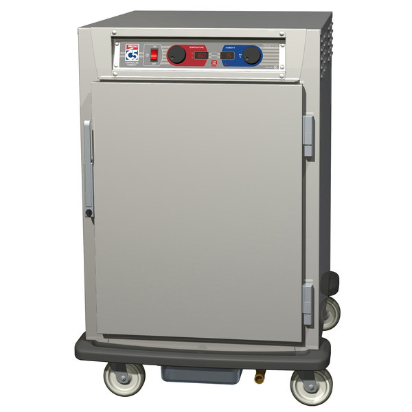 Metro C595-NFS-UPFC C5 9 Series Pass-Through Heated Holding and Proofing Cabinet - Clear / Solid Doors Main Image 1