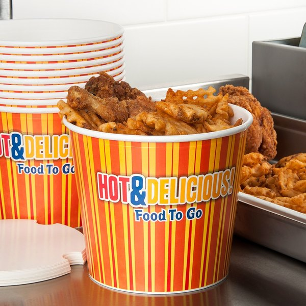 Choice 170 oz. Hot Food Bucket with Lid - 120/Case