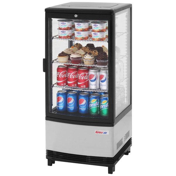 Turbo Air Crt 77 1r Diamond Show Case 17 Glass Door Countertop Display Refrigerator