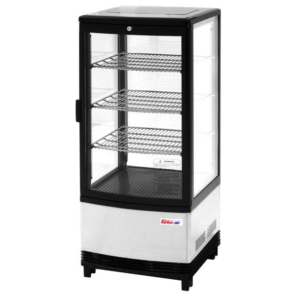 "Turbo Air CRT-77-1R Diamond Show Case 17"" Glass Door Countertop Display Refrigerator"