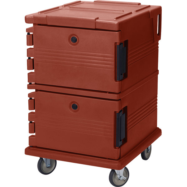 Cambro UPC1200402 Brick Red Camcart Ultra Pan Carrier - Front Load