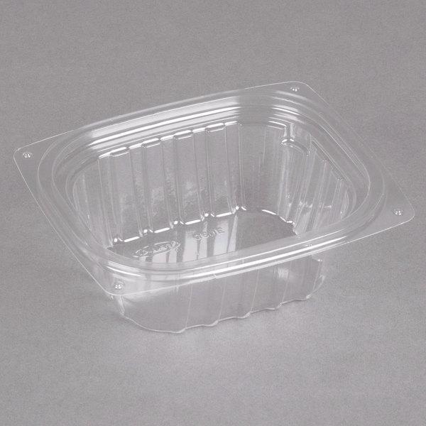 Dart C6DER ClearPac 6 oz. Clear Rectangular Plastic Container - 1008/Case