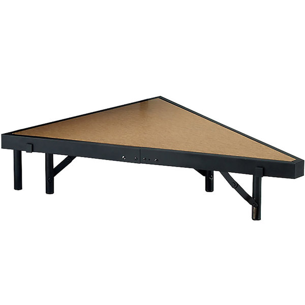 """National Public Seating SP488HB Portable Stage Pie Unit with Hardboard Surface - 48"""" x 8"""""""