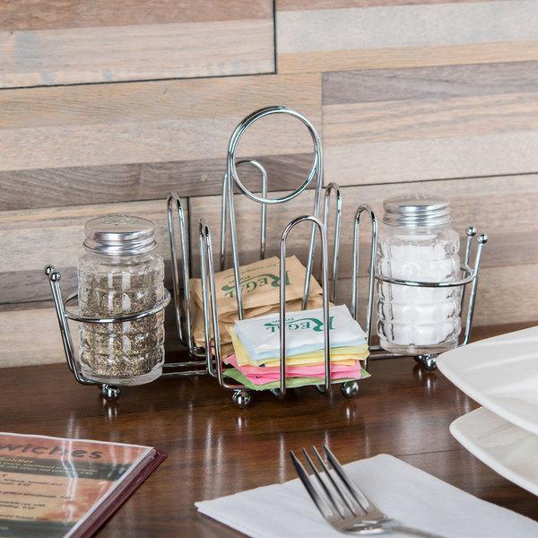 Wire Salt & Pepper Shaker / Sugar Packet Rack