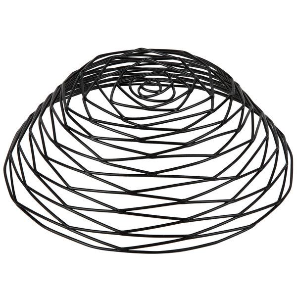 tablecraft bk17510 artisan round black wire basket