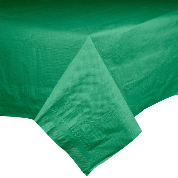 Hoffmaster 220429 54 inch x 54 inch Cellutex Jade Green Tissue / Poly Paper Table Cover - 50/Case