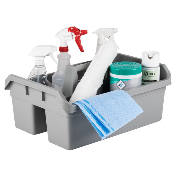 Continental 49 Gray Plastic Cleaning Caddy, 19L x 13.5W (Maxi Maid Carrier) Main Image 3
