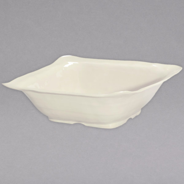 "GET ML-132-IV New Yorker 15"" Square Bowl - Ivory"