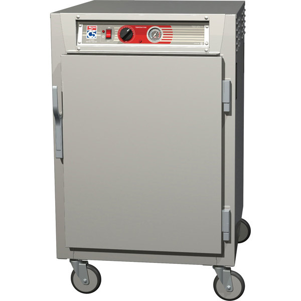Metro C565-SFS-LPFC C5 6 Series Half-Height Reach-In Pass-Through Heated Holding Cabinet - Solid / Clear Doors