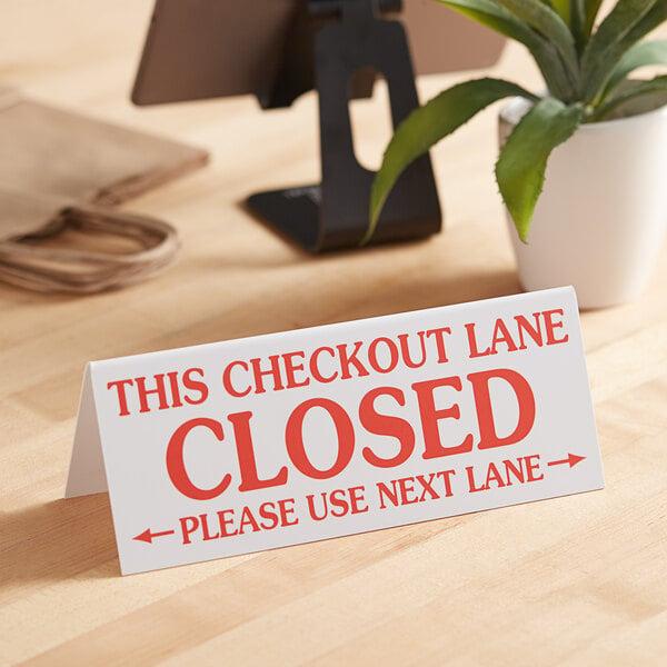 Checkout Lane Closed Sign Main Image 2