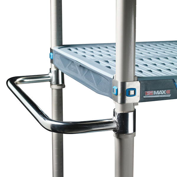 "Metro MEH18S MetroMax iQ Stainless Steel Mobile Shelving Extended Handle 18"""