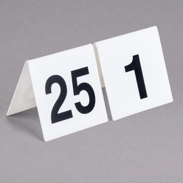 GET NUM Numbers Through Table Tent Number - Restaurant table numbering system