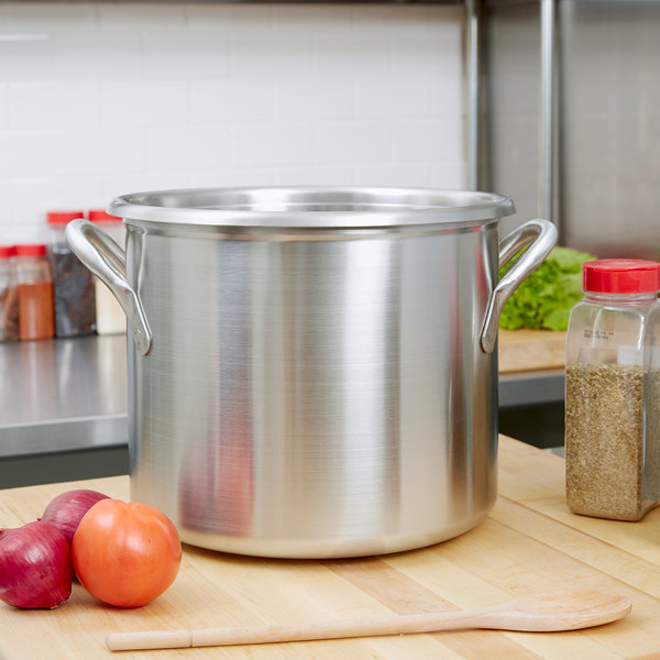 Vollrath 77610 Tri Ply 20 Qt Stainless Steel Stock Pot