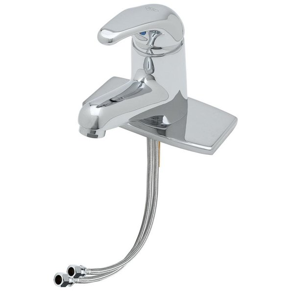 """T&S B-2703-LF15 Single Hole Deck Mount Lever Faucet with Vandal Resistant Aerator - 4 5/8"""" Spread"""