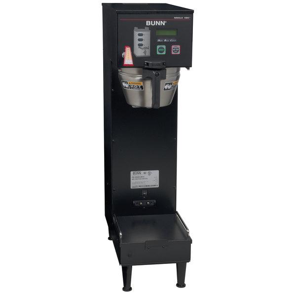 Bunn 33600.0013 BrewWISE Black Single Soft Heat DBC Brewer - 120/240V, 4100W