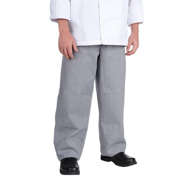 Chef Revival P004HT Size L Houndstooth EZ Fit Chef Pants - Poly-Cotton