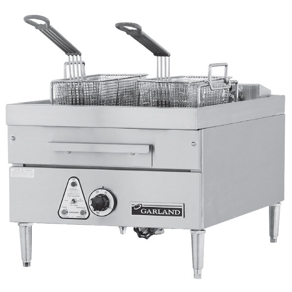Garland E24-31SF 30 lb. Countertop Electric Super Deep Fryer - 208V, 1 Phase, 16 kW