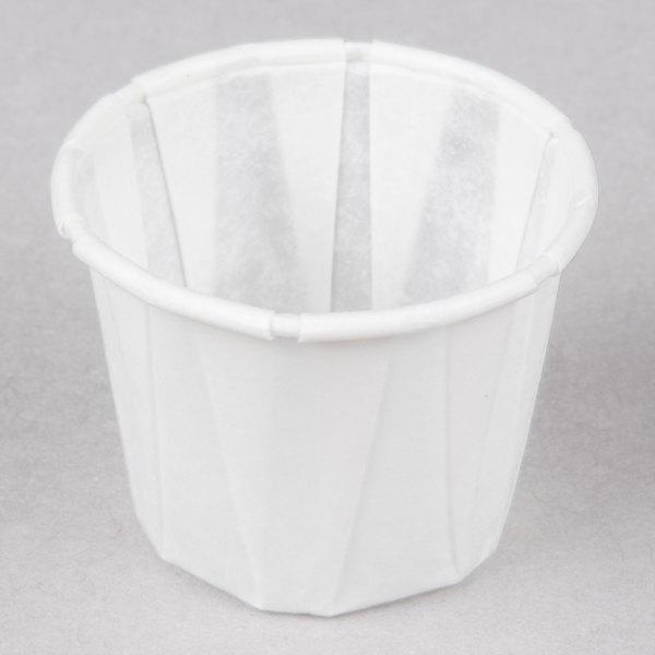 Genpak F075 .75 oz. Harvest Paper Souffle / Portion Cup 5000 / Case