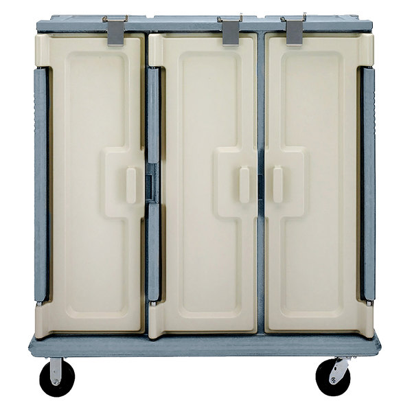 Cambro MDC1520T30401 Slate Blue 3 Compartment Meal Delivery Cart 30 Tray Main Image 1
