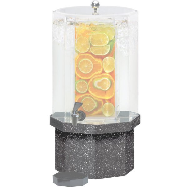 Cal-Mil C972-5B-16 Octagonal Granite Gray Acrylic Replacement Base for 5 Gallon Classic Beverage Dispensers