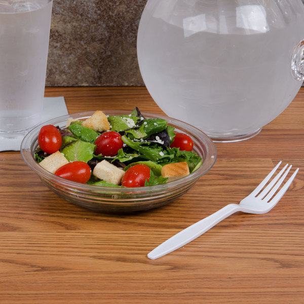 Cambro RSB6CW135 18.8 oz.Clear Camwear Round Ribbed Bowl 6""