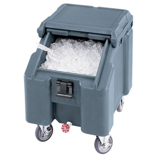Cambro ICS100L401 SlidingLid™ Slate Blue Portable Ice Bin - 100 lb. Capacity