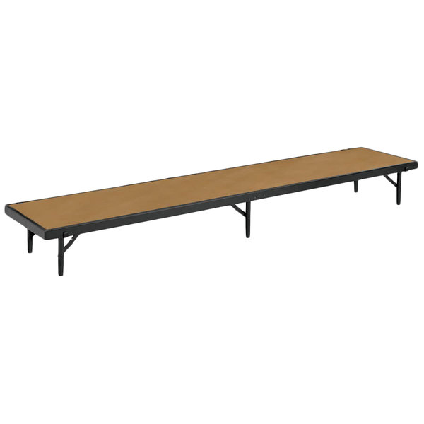 "National Public Seating RT8HB Hardboard Tapered Portable Riser - 18"" x 60"" x 8"""