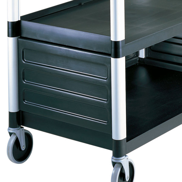 Cambro BC340KDP110 Black Single Shelf Panel Set Main Image 1