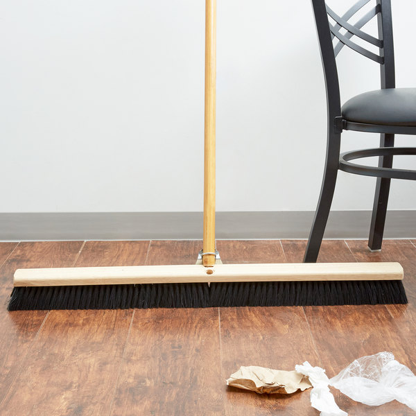 "Carlisle 3621923603 Flo Pac 36"" Push Broom Head with Black Bristles Main Image 5"